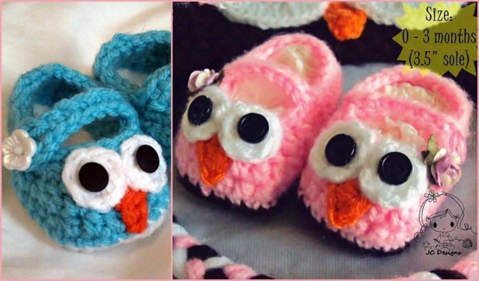 Baby Owl Booties Free Crochet Pattern