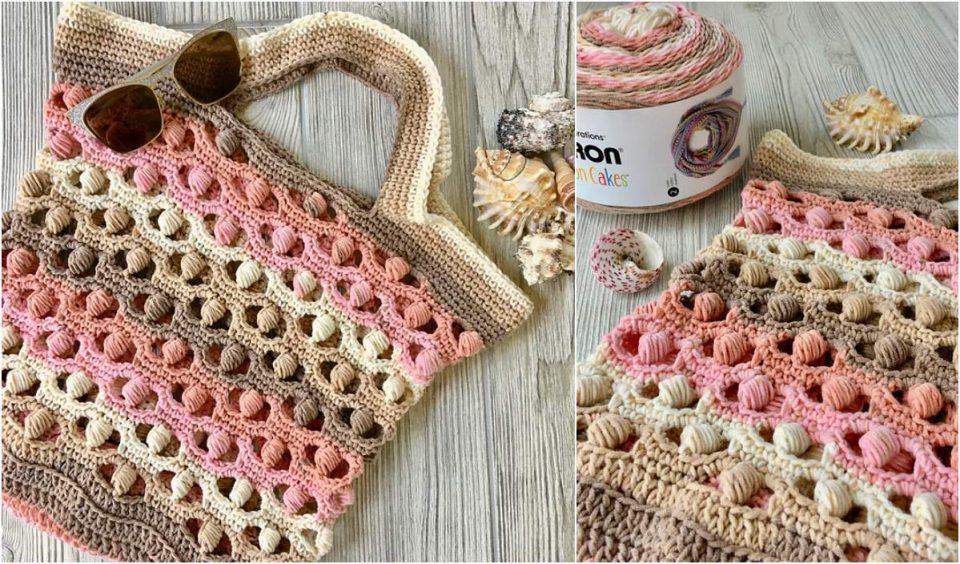 Sea Shells by the Sea Shore Bag Free Crochet Pattern