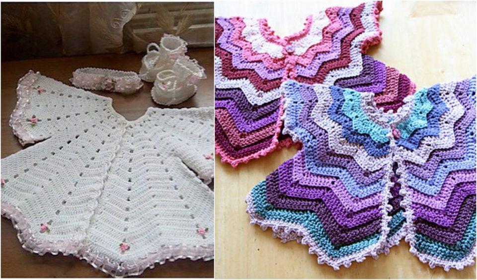 Star-Shaped Baby Vest Free Crochet Pattern