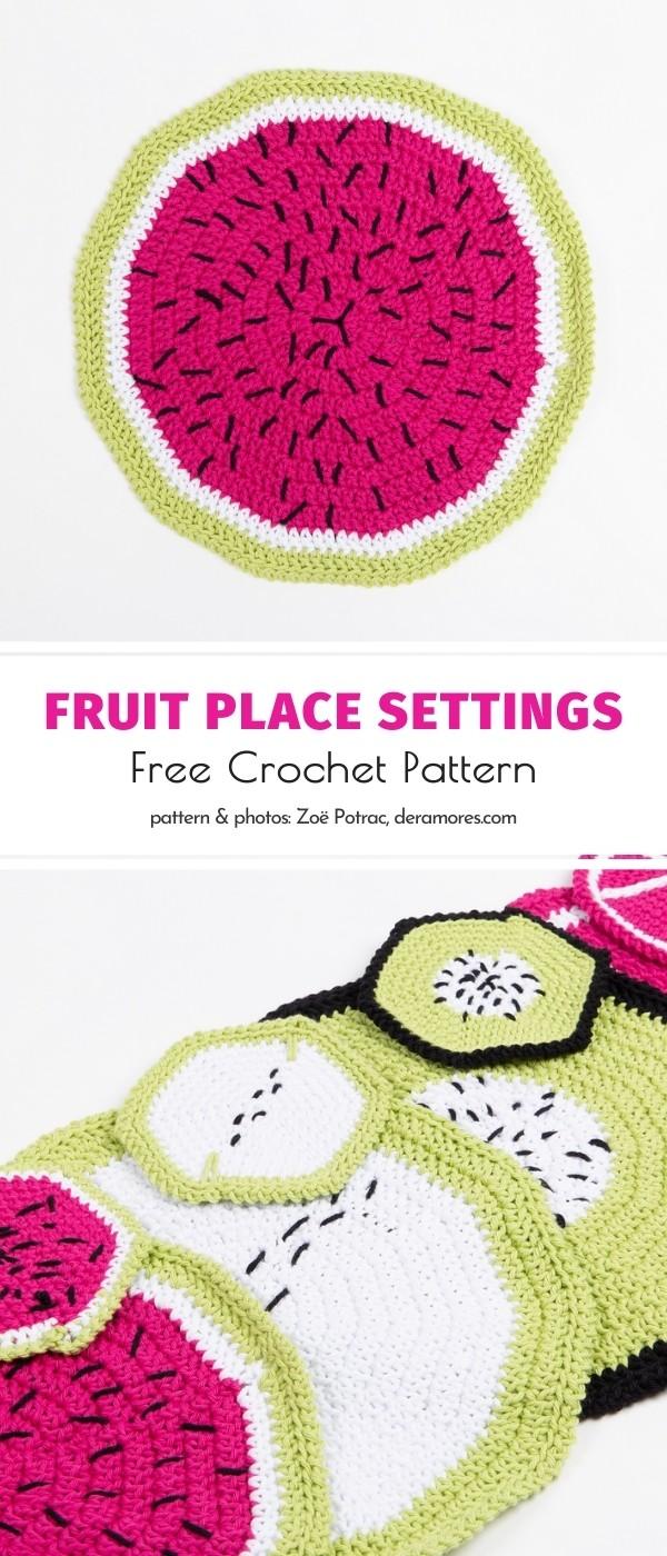 Crochet Fruit Place Settings
