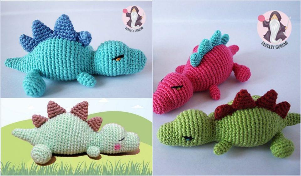 Sleeping Baby Dino Free Crochet Pattern