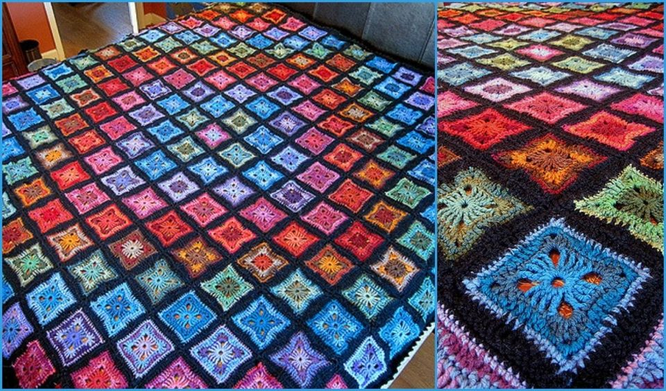 Original Spectrum Throw Free Crochet Pattern