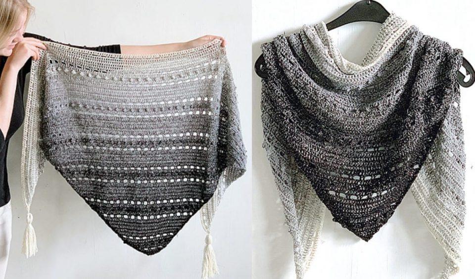 Pop Up Shawl Free Crochet Pattern
