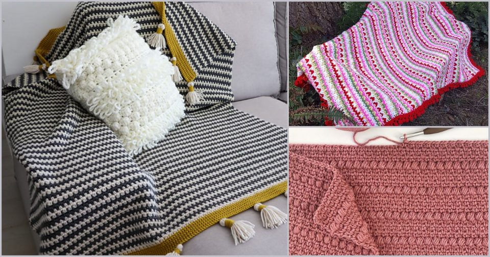 Boho Blanket Free Crochet Patterns