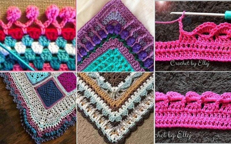 crochet blanket edgings