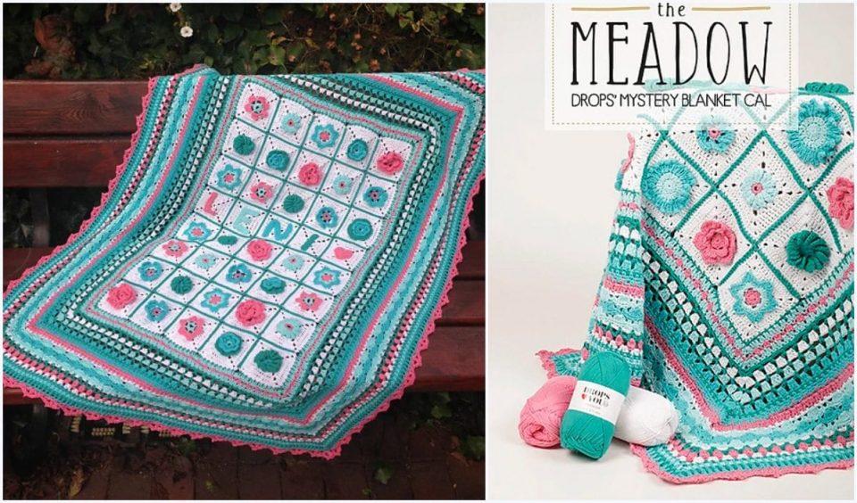 The Meadow Mistery Cal Blanket Free Crochet Pattern
