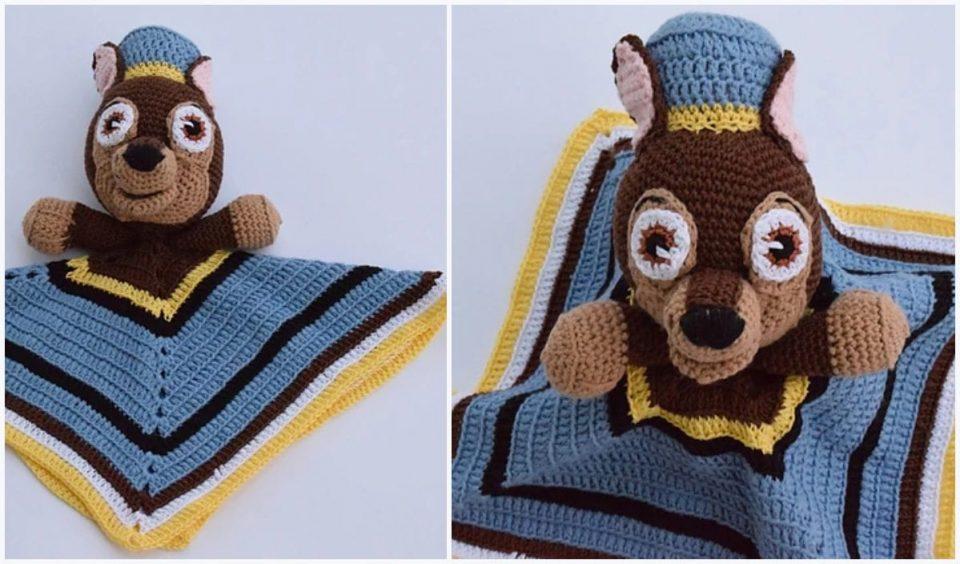 Paw Patrol Chase Lovey Free Crochet Pattern