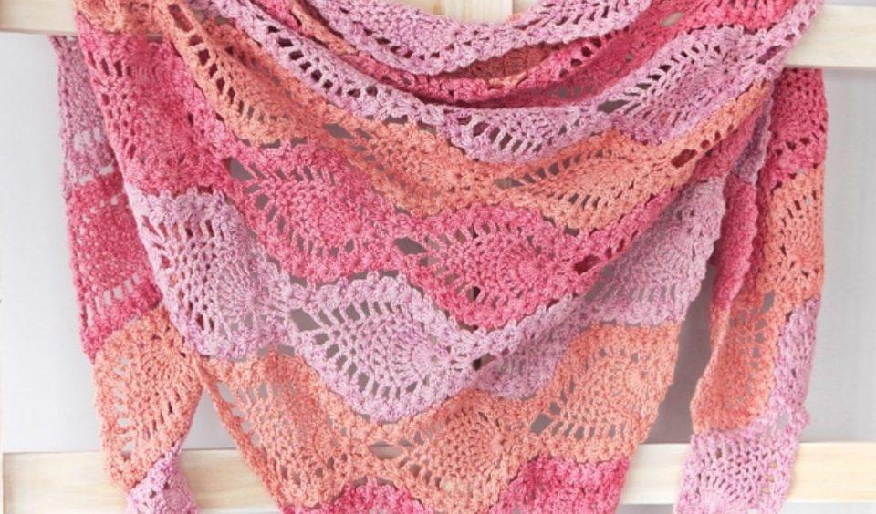 Pina Colada Shawl Free Crochet Pattern
