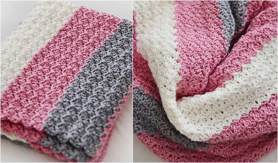 Simple Sweet Baby Blanket Free Crochet Pattern