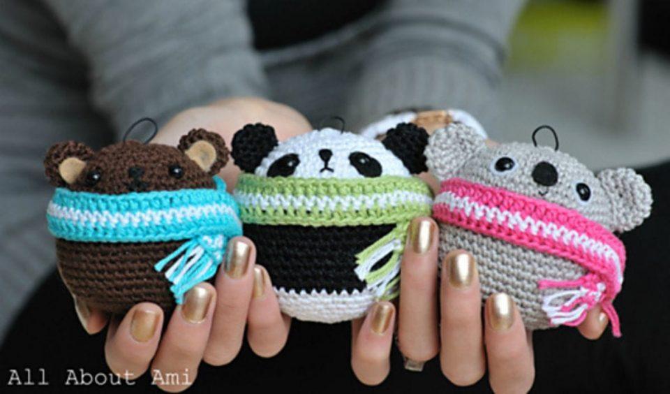 Teddy Bear Ornaments Free Crochet Pattern