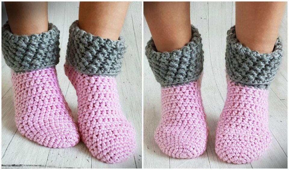 House Socks Free Crochet Pattern