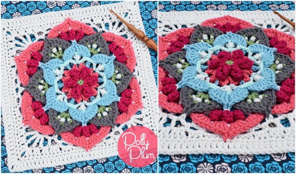 Imagine Afghan Block Free Crochet Pattern