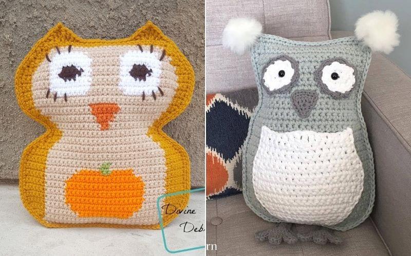 Crochet Owl Cushion Ideas