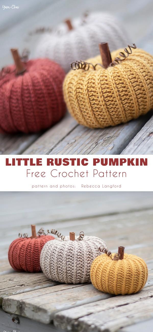 Little Rustic Pumpkin Free Crochet Pattern