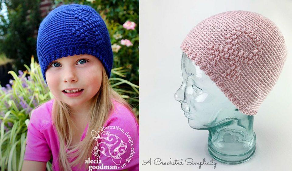Awareness Ribbon Beanie Free Crochet Pattern