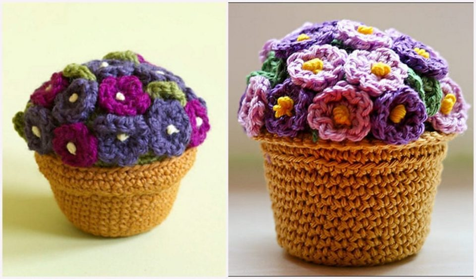 Potted Plant Free Crochet Pattern