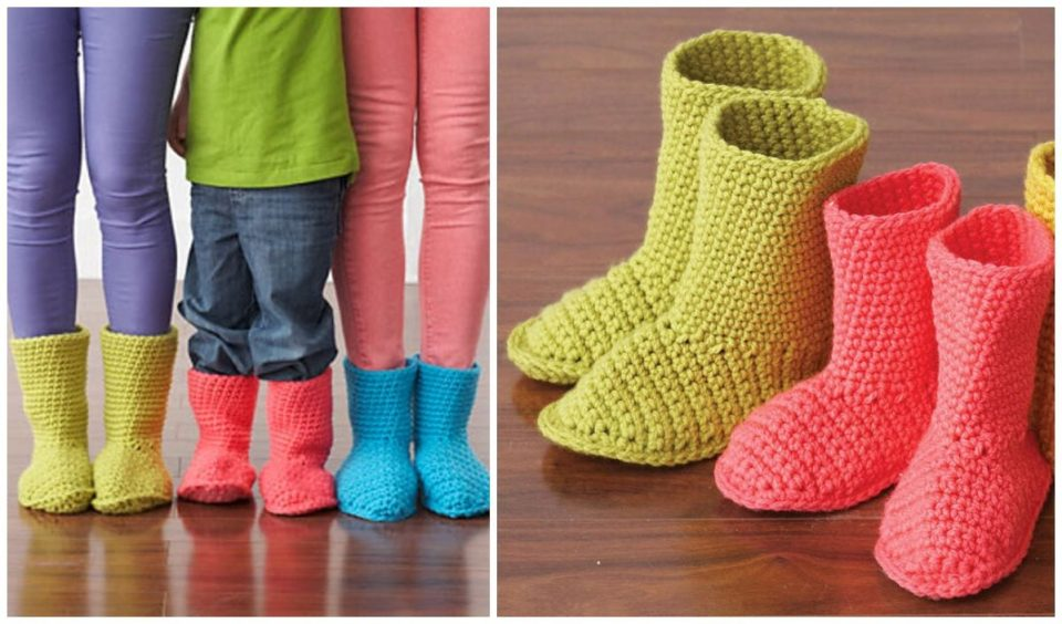 Slipper Boots Free Crochet Pattern
