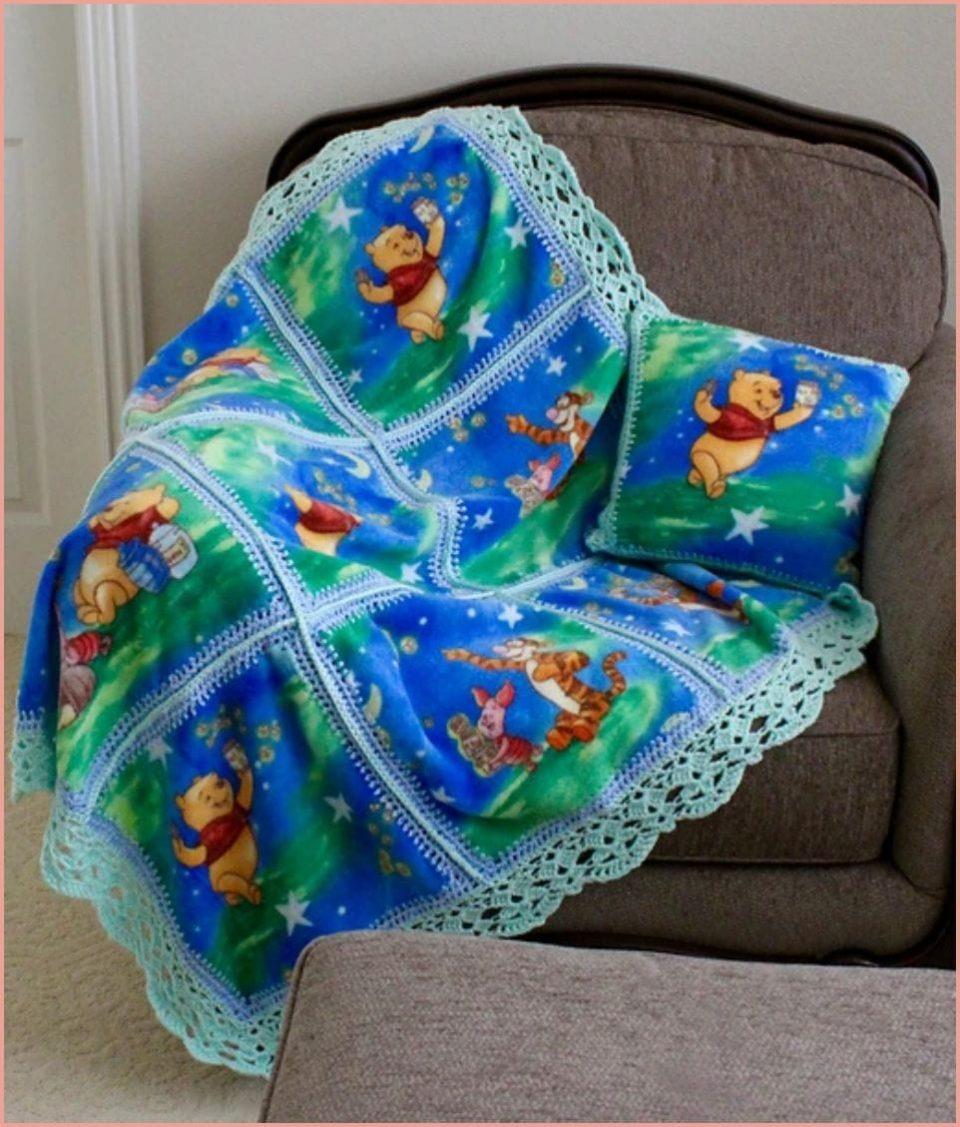 Lace Edge For Fleece Baby Blanket Free Crochet Patterns