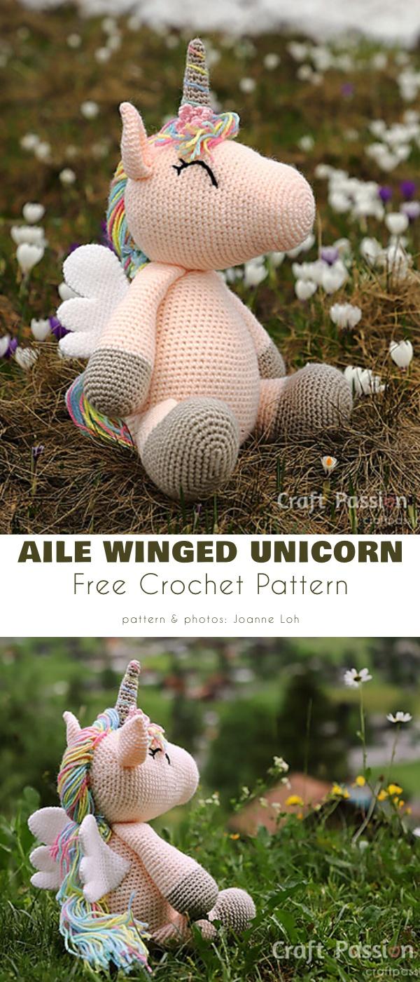 Aile Winged Unicorn Amigurumi