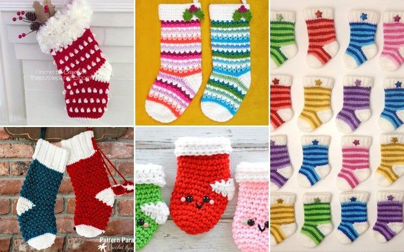 Cheerful Christmas Stockings Free Crochet Patterns