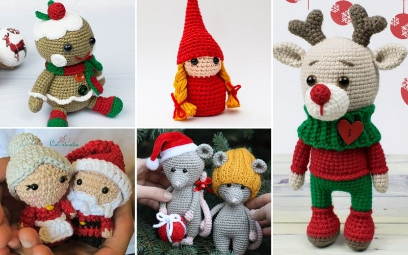 Cute Amigurumi For Christmas Free Crochet Patterns