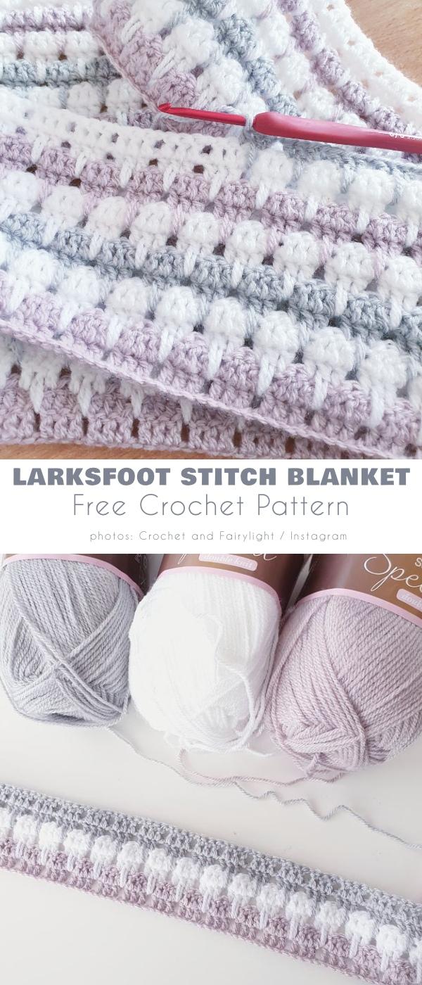 Larksfoot Stitch Blanket