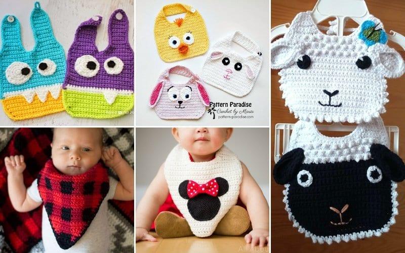 Sweet Crochet Bibs for Babies Free Patterns