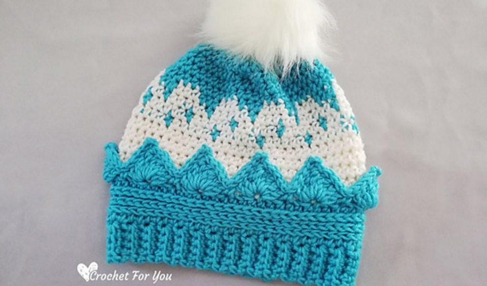 Crown Hat Free Crochet Pattern