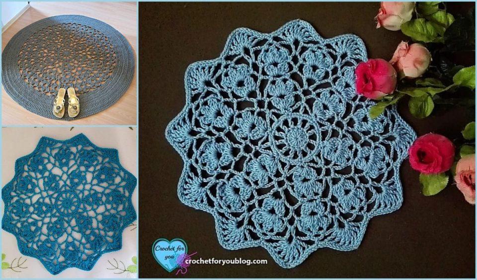 Flower Wheel Doily Free Crochet Pattern