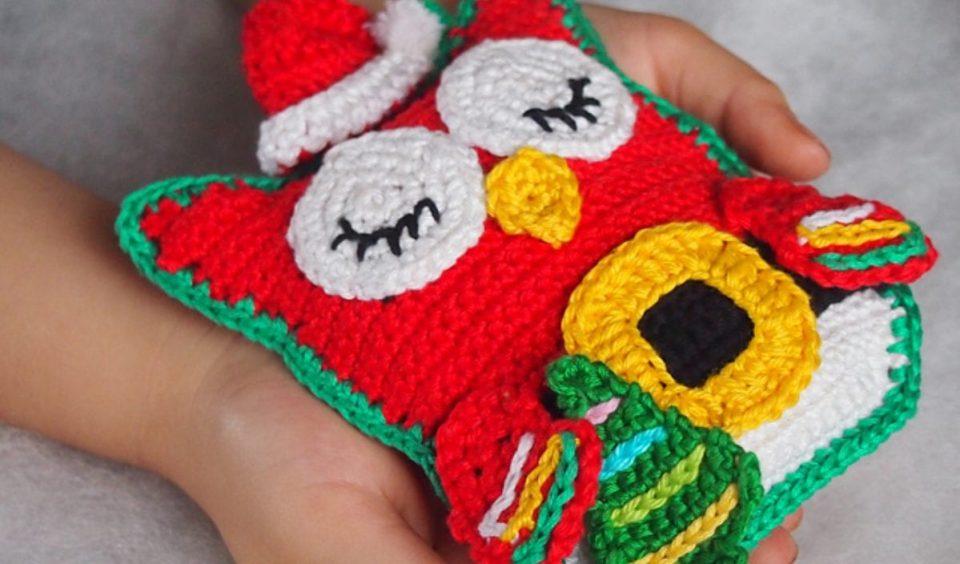Owl Santa Claus