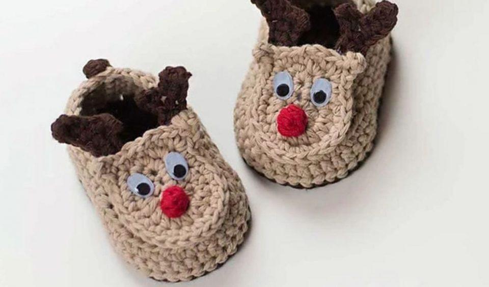 Reindeer Booties Free Crochet Patterns