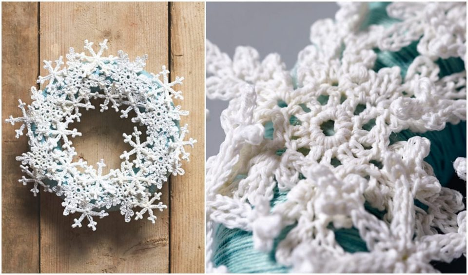 Snowflake Wreath Free Crochet Patterns