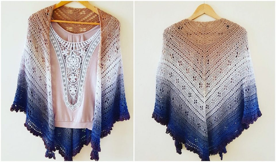 Vintage Vibes Shawl Free Crochet Pattern