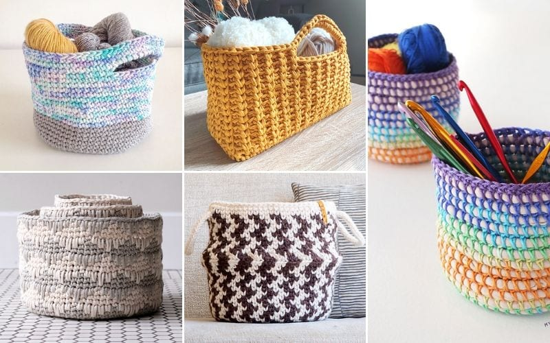 Crochet Baskets For Your Home Free Patterns