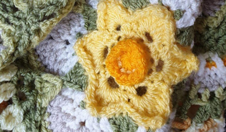Narcissus Cal Blanket Free Crochet Pattern