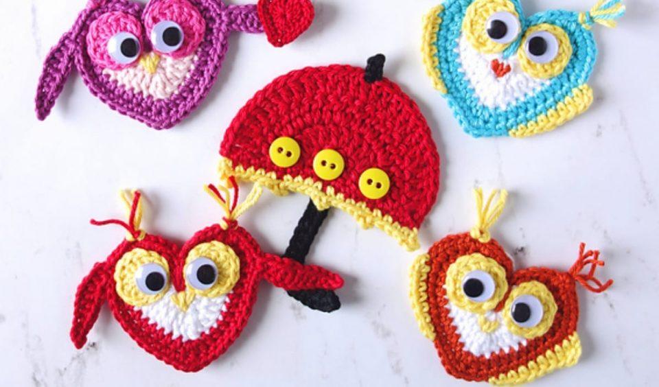 Owl Applique Free Crochet Pattern