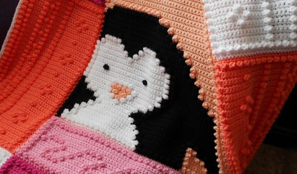 Penguin Blanket Free Crochet Pattern
