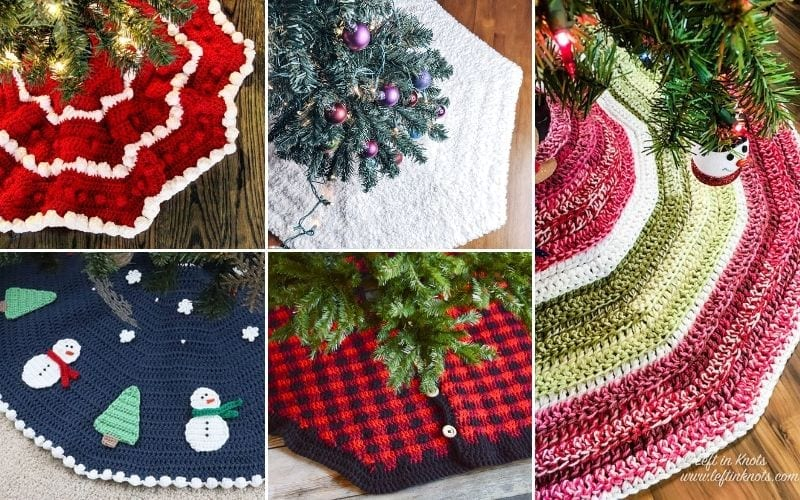 Crochet Tree Skirts For Christmas Free Patterns