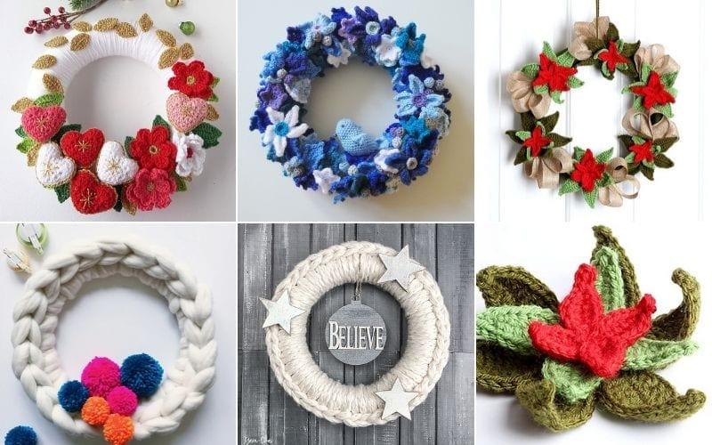 Crocheted Winter Wreaths Free Patterns