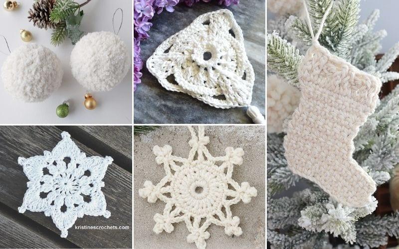 Elegant White Ornaments Free Crochet Patterns