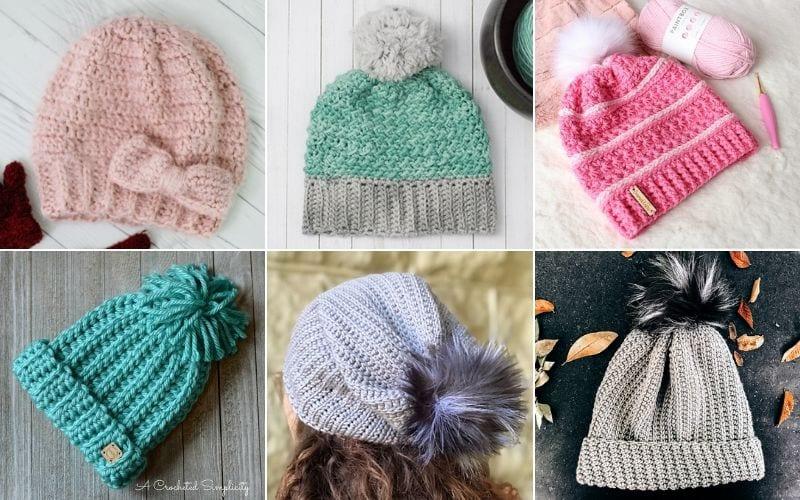 Warm Slouchy Hats For Winter Free Crochet Patterns