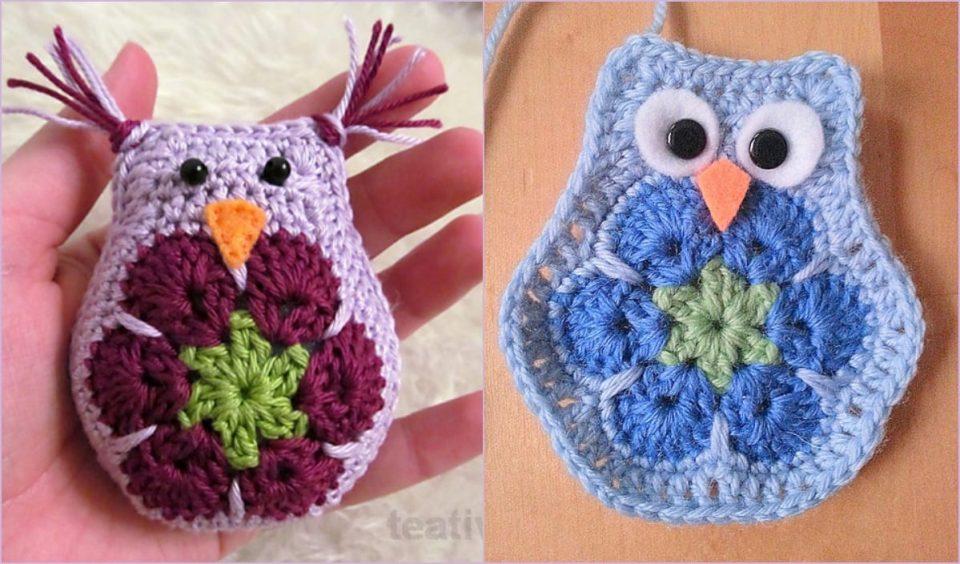 African Flower Owl Free Crochet Pattern