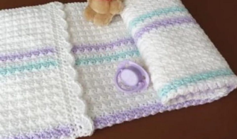 Baby Blanket Pram Cover Free Crochet Pattern