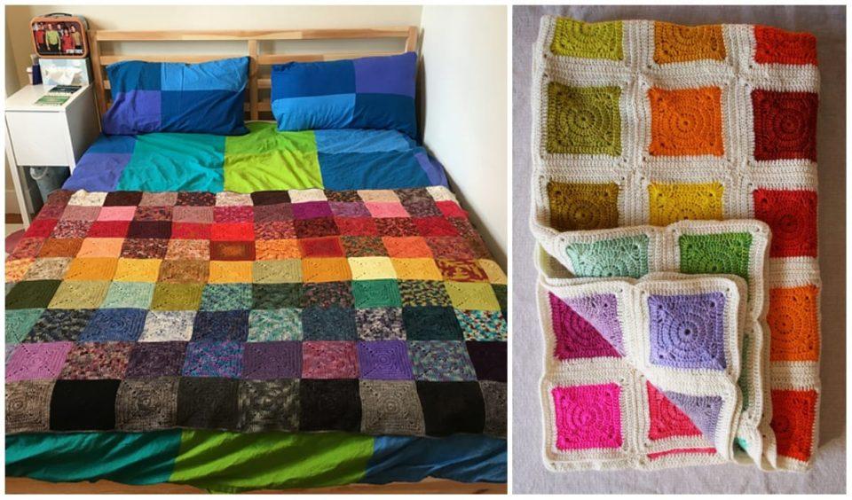 Bear's Rainbow Blanket Free Crochet Pattern
