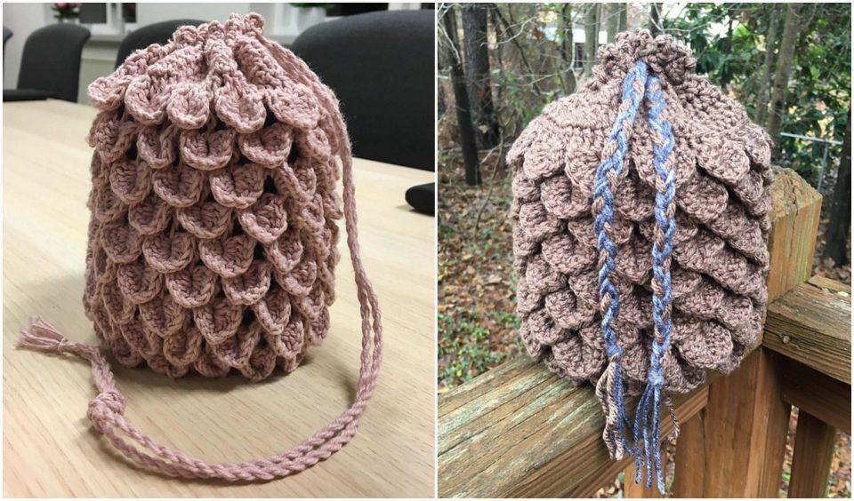 Dragonscale Bag Free Crochet Pattern