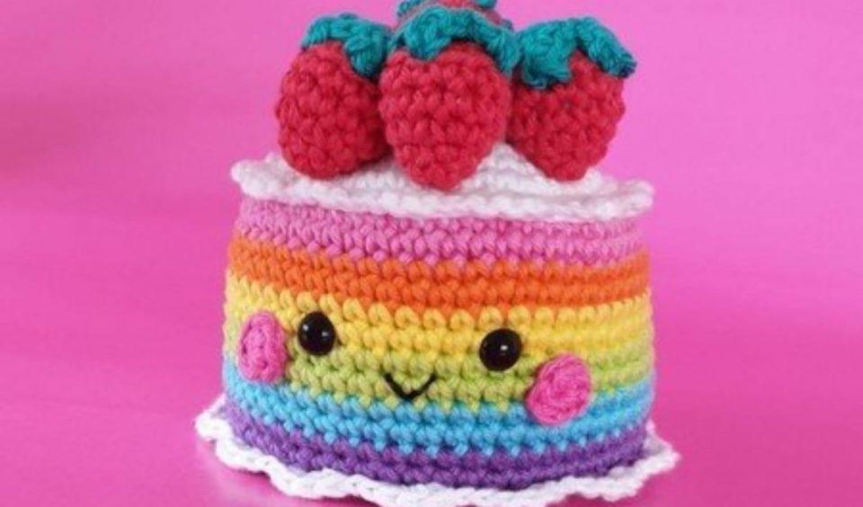 Rainbow Cake Free Crochet Pattern