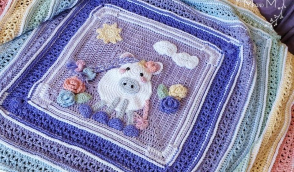 Hannah's Unicorn Blanket CAL Free Pattern