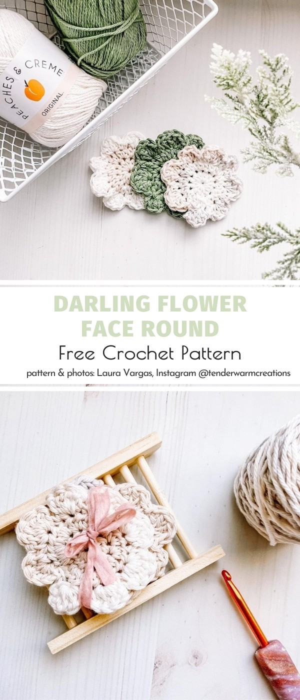 Flower Crochet Scrubbie