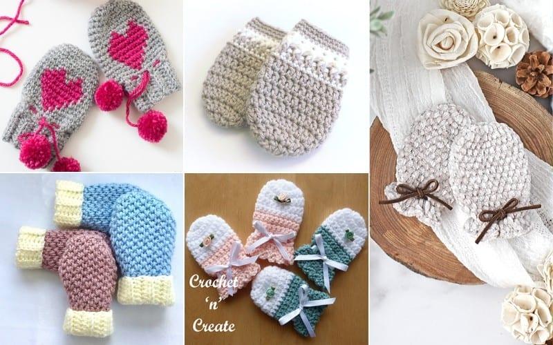 Cosy Baby Mittens Free Crochet Pattern