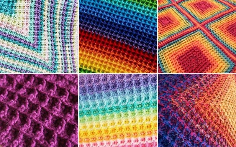 Waffle Stitch Crochet Projects